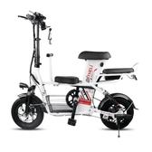 親子電動自行車小型電瓶車子母折疊電動車鋰電助力女性代步車