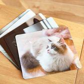 滑鼠墊遇見你真好貓咪滑鼠墊柔軟橡膠墊子個性清新寵物電腦墊【快速出貨八折優惠】