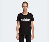 Adidas ESSENTIALS LINEAR TEE 女款黑色休閒短袖上衣-NO.DP2361
