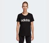 Adidas ESSENTIALS LINEAR TEE 女款黑色休閒短袖上衣NO DP2361