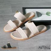 拖鞋 金屬小V雙橫帶拖鞋 MA女鞋 T1024