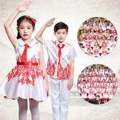 聖誕節元旦兒童合唱服中國風大合唱團表演服裝小學生詩歌朗誦演出服女童 珍妮寶貝