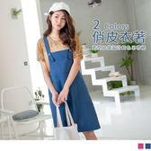 《DA5812-》馬卡龍色調造型口袋設計高含棉吊帶裙 OB嚴選