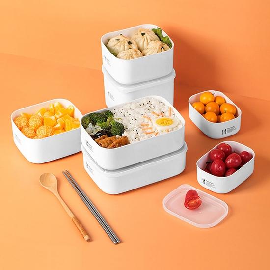 便當盒 保鮮盒 密封盒 收納盒 迷你 塑料盒 食材分裝 飯盒 分類 可微波 保鮮分裝盒【N391】慢思行