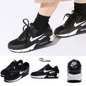 Nike 復古慢跑鞋 Wmns Air Max 90 黑 白 氣墊 運動鞋 黑白 基本款 女鞋【PUMP306】 325213-047