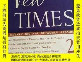 二手書博民逛書店英文原版雜誌:NEW罕見TIMES A WEEKLY JOURNAL OF WORLD AFFAIRS(1963年