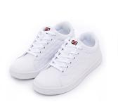 FILA 男女款全白休閒鞋-NO.4C908T111