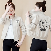 棒球服 2021新款早秋季bf風短款薄外套女春秋百搭韓版寬鬆洋氣夾克棒球服 童趣屋  新品