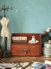 熱賣復古置物架 鑰匙收納盒玄關創意木質桌面茶幾收納盒客廳雜物木盒儲物盒抽屜式【618 狂歡】
