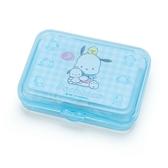 〔小禮堂〕帕恰狗 日製造型貼紙組附盒《藍.格紋》40枚入.裝飾貼.黏貼用品 4901610-03769
