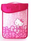 Hello Kitty SKN-556  精巧時尚平板電腦保護袋KT-蝴蝶結粉10.1吋