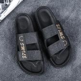 涼鞋 拖鞋男新款夏季時尚室外穿個性一字拖家用潮流韓版休閒涼拖鞋 一件82折
