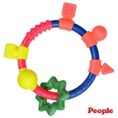 『121婦嬰用品館』日本People新環狀手搖鈴咬舔玩具