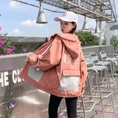 工裝外套 連帽外套女春秋季新款韓版寬鬆百搭衫棒球服工裝短外套 - 歐美韓熱銷