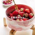 可愛水果沙拉碗家用創意陶瓷泡面碗少女心單個好看的瓷碗個性 芭蕾朵朵