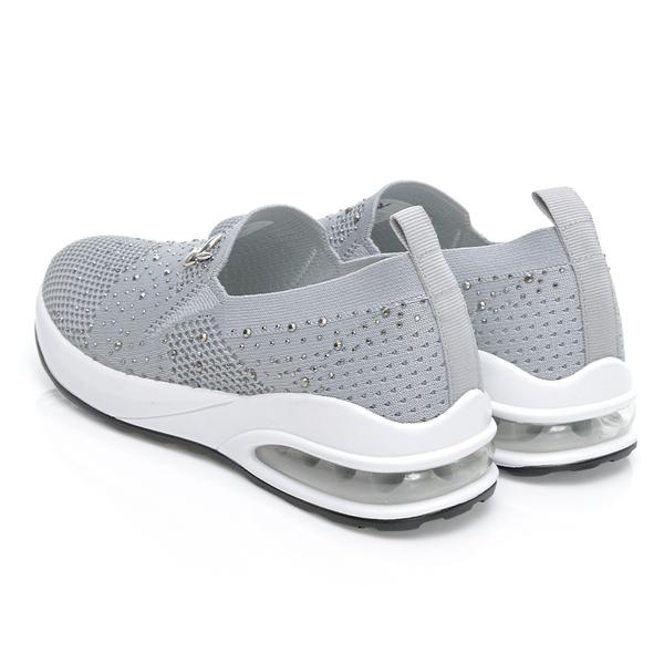 PLAYBOY 璀璨縷空 飛織氣墊休閒鞋-灰(Y7230)