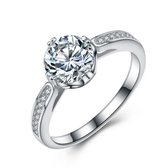 925純銀戒指 鑲鑽-摯愛唯一生日母親節禮物女配件73an139【巴黎精品】