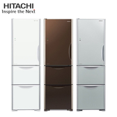 [HITACHI 日立家電]394公升 三門變頻冰箱左開特仕版-琉璃白/琉璃瓷/琉璃棕 RG41BL