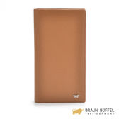 【BRAUN BUFFEL】HOMME-B系列卵石紋14卡零錢袋長夾 -棕色 BF192-B333-DES