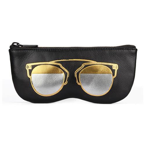Rebecca Minkoff 眼鏡造型手拿包(黑底金眼鏡)220122