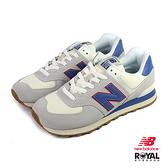 New balance 574 灰色 麂皮 網布 運動休閒鞋 男女款NO.B0840【新竹皇家 ML574ERH】