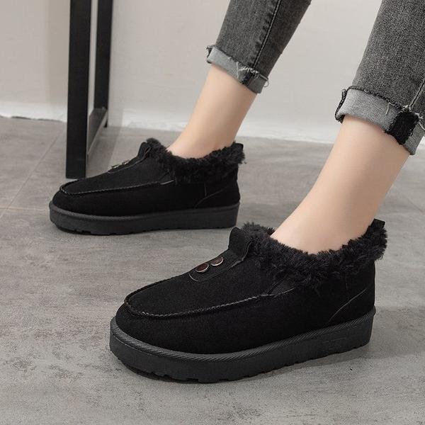 清倉特價 36-44碼 大碼女鞋41冬季學生雪地靴42女短靴皮毛一體加厚短筒靴43