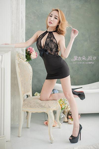 包臀洋裝 時尚夜店辣妹服飾 深V爆乳貼身露背削肩連身裙- 愛衣朵拉