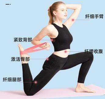 阻力帶XINJIFU翹臀圈虐臀圈阻力帶健身彈力帶瑜伽拉力帶深蹲不捲邊 暖心生活館