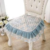 坐墊椅子墊子坐墊厚家用餐廳歐式餐椅椅墊布藝凳子帶綁帶四季通用簡約走心小賣場YYP