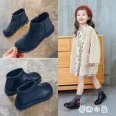 女童短靴加絨馬丁靴兒童靴子韓版單靴【奇趣小屋】