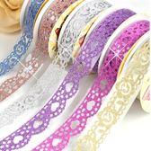 七色韓國DIY手工裝飾膠帶金粉蕾絲花邊膠帶相冊貼【奈良優品】