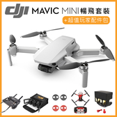 (分期零利率) 送 128G 記憶卡 +超值玩家配件包 3C LiFe DJI Mavic Mini 摺疊航拍機 暢飛套裝版 (公司貨)