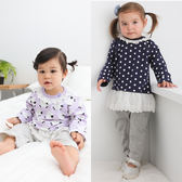 Augelute Baby 假兩件蕾絲上衣裙造型連身衣 61080