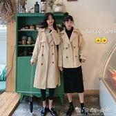 春秋大衣秋季新款流行風衣女中長款小個子英倫風寬鬆百搭外套 晴天時尚館
