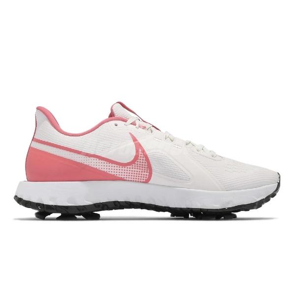 Nike 高爾夫球鞋 React Infinity Pro W 白 粉紅 女鞋 Golf【ACS】 CT6621-104