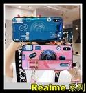 【萌萌噠】Realme 8 GT C21 網紅炫彩藍光 腕帶支架款 相機殼 全包矽膠軟殼 手機殼 附斜背掛繩