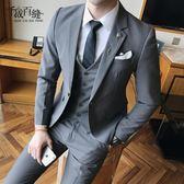 西裝外套男士三件套韓版修身新郎伴郎結婚禮服職業裝正裝 mc3446『M&G大尺碼』