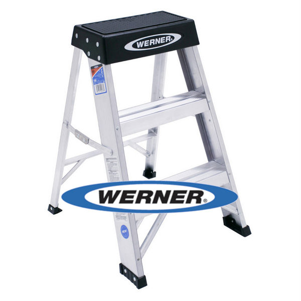 美國Werner穩耐安全鋁梯-150B 鋁合金梯凳 維修保養梯