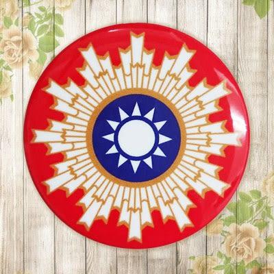 【冰箱貼】紅徽章  #  白板貼 冰箱貼 OA屏風貼 置物櫃貼 5.8cm x 5.8cm