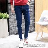 春季牛仔褲男士韓版潮流2020新款修身小腳寬鬆休閒直筒九分褲子  英賽爾