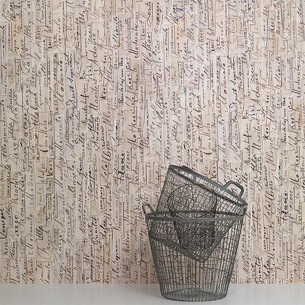 樂譜壁紙 客廳壁紙 臥室 【荷蘭進口牆紙】【訂貨單位48.7cm×9m/卷】 仿真(fake) REM-03