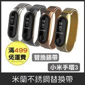 GS.Shop 小米手環3 米蘭式 替換帶 不鏽鋼  金屬 替換錶帶 專利設計