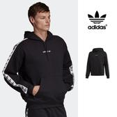 【GT】Adidas Originals 黑 連帽T恤 串標 寬鬆 落肩 運動 休閒 長袖 帽衫 愛迪達 三葉草 Logo DX1301