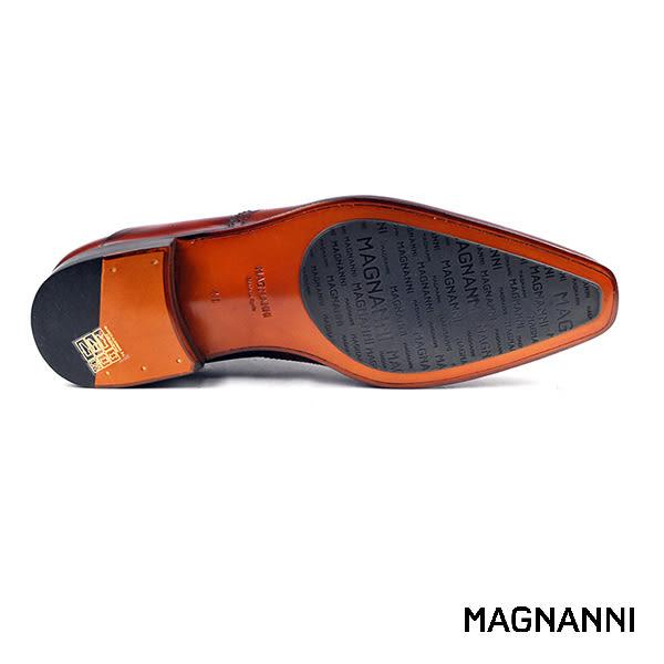 【MAGNANNI】翼紋牛津紳士皮鞋 褐色(18088-COG)