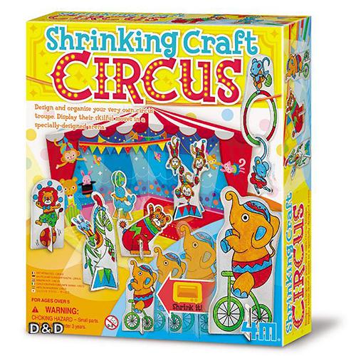 《4M美勞創作》可愛動物馬戲團 (熱縮片) Shrinking Craft Factory╭★ JOYBUS玩具百貨