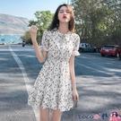 熱賣雪紡洋裝 2021年新款小個子法式初戀溫柔風碎花連身裙子春雪紡氣質女裝夏裝 coco