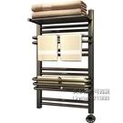 毛巾架 智慧電熱毛巾架家用衛生間置物架浴巾架加熱壁掛小背簍暖氣烘干架 每日下殺NMS