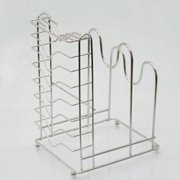 不銹鋼廚房置物架 瀝水餐具架 多功能刀架砧板架鍋蓋架菜板架