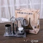兒童禮物送女友圣誕禮室內精美沙漏擺件創意個性書房流行液體變色 伊芙莎