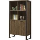 書櫃 SB-806-2 雅博德3尺經典胡桃色雙門開放書櫃 【大眾家居舘】